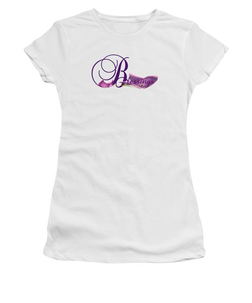 Women's T-Shirt (Junior Cut) featuring the digital art Blessings by Ann Lauwers