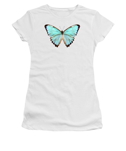 blue butterfly species Morpho portis thamyris Women's T-Shirt