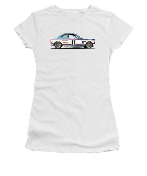 Bmw 3.0 Csl Chris Amon, Hans Stuck Women's T-Shirt (Athletic Fit)