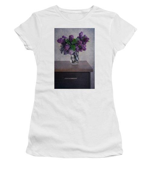 Women's T-Shirt (Junior Cut) featuring the photograph Bouquet Of Fresh Lilacs by Jaroslaw Blaminsky