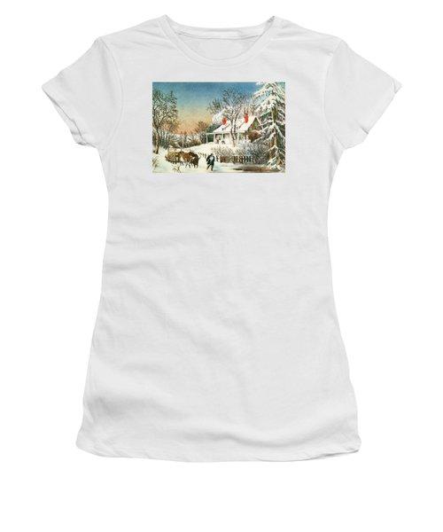 Bringing Home The Logs Women's T-Shirt