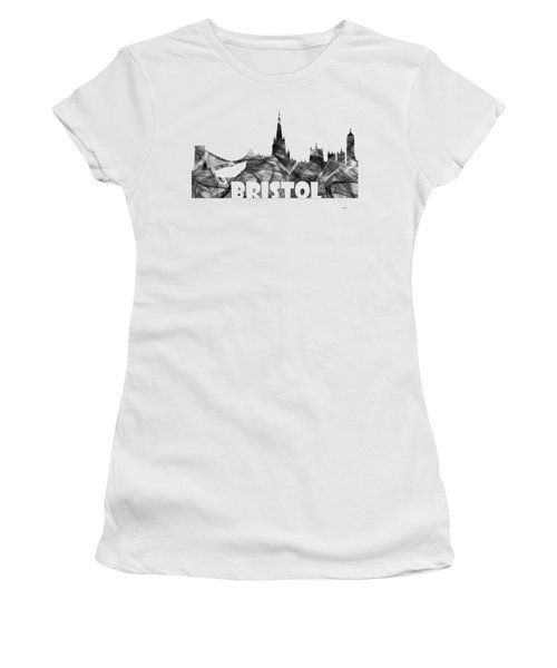 Bristol England Skyline Women's T-Shirt (Athletic Fit)