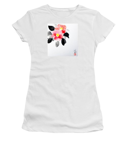 Camellia / Tsubaki Women's T-Shirt (Athletic Fit)