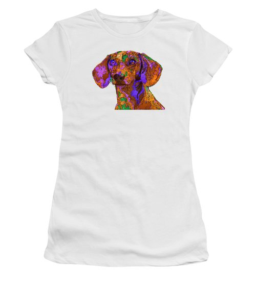 Chloe. Pet Series Women's T-Shirt (Athletic Fit)