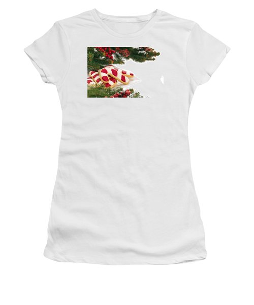 Christmas Cookies Decorated With Real Tree Branches Women's T-Shirt (Athletic Fit)