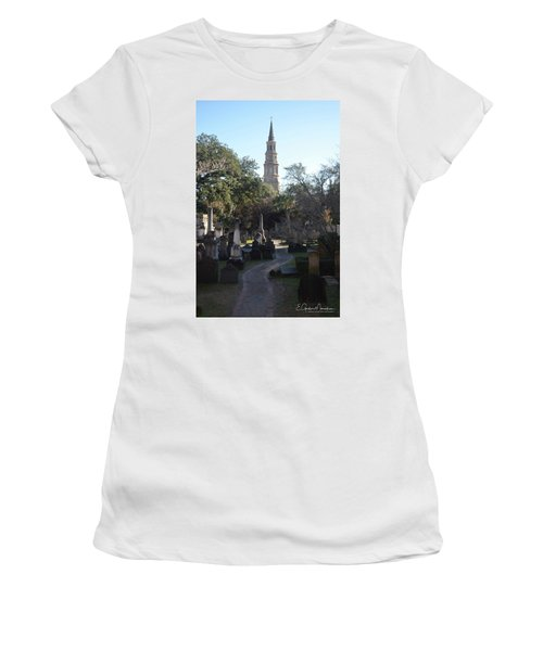Circular Congregational Graveyard 3 Women's T-Shirt (Junior Cut) by Gordon Mooneyhan