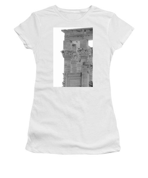 Columns Women's T-Shirt (Junior Cut) by Silvia Bruno