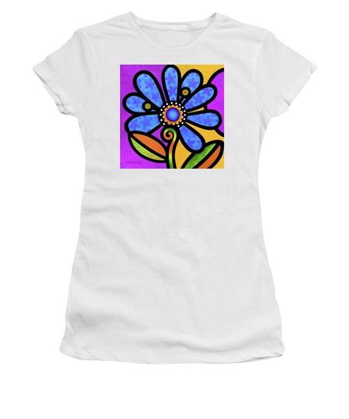 Cosmic Daisy In Blue Women's T-Shirt