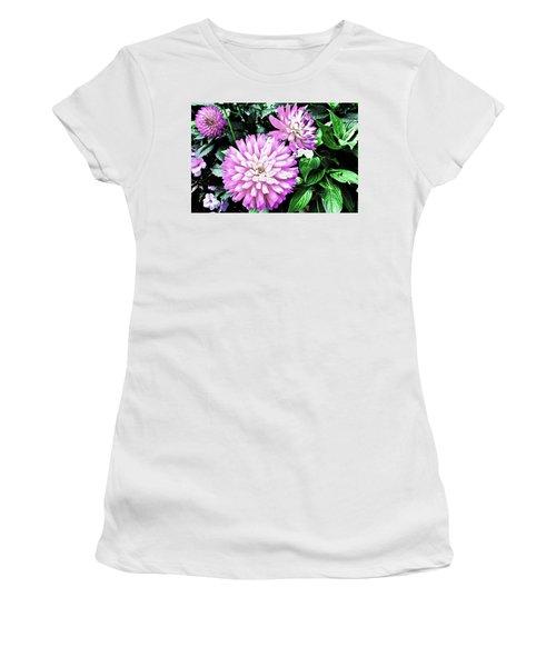 Dahlia Women's T-Shirt (Junior Cut) by Cesar Vieira