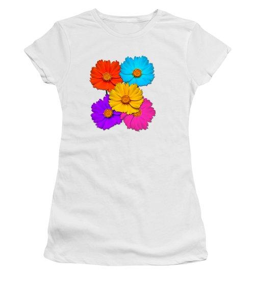 Daisy Pop Women's T-Shirt (Junior Cut) by John Haldane