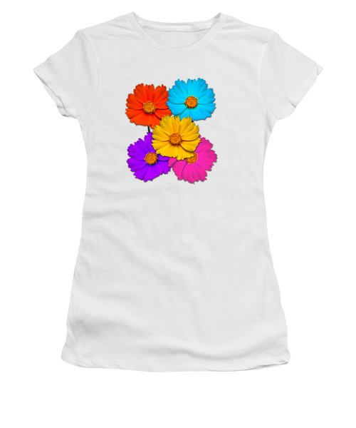 Daisy Pop Women's T-Shirt (Athletic Fit)