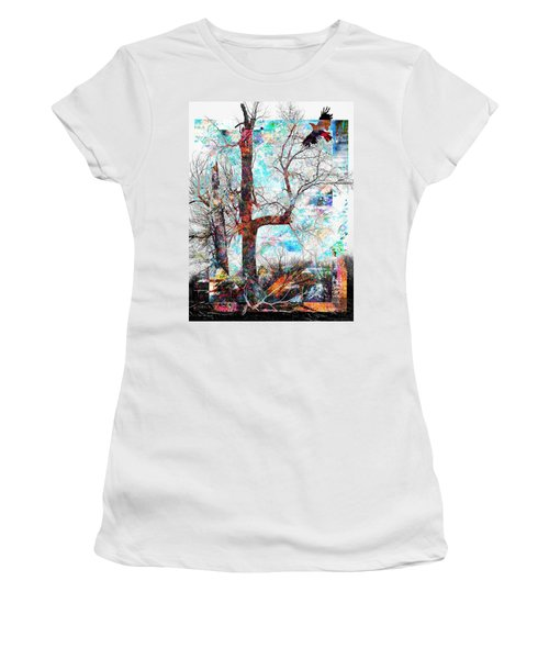 Dead Tree And Crow Women's T-Shirt (Athletic Fit)