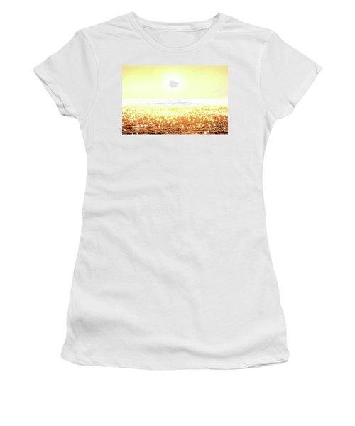 Rose Gold Diamonds Women's T-Shirt (Junior Cut) by Michael Rock