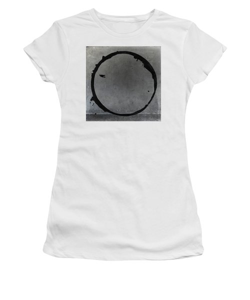 Women's T-Shirt (Junior Cut) featuring the digital art Enso 2017-27 by Julie Niemela