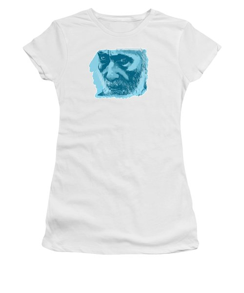 Women's T-Shirt (Junior Cut) featuring the drawing Eyes by Antonio Romero