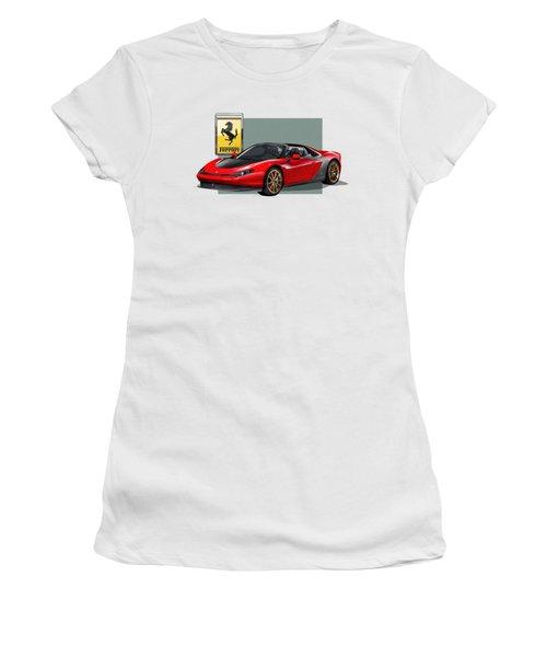 Ferrari Sergio With 3d Badge  Women's T-Shirt