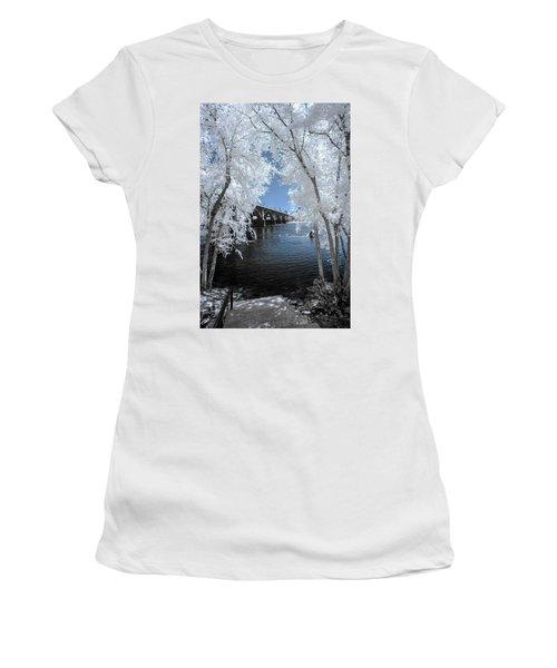 Gervais St. Bridge In Surreal Light Women's T-Shirt