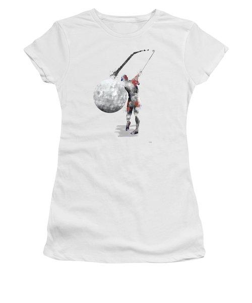 Golf Player Women's T-Shirt (Junior Cut) by Marlene Watson