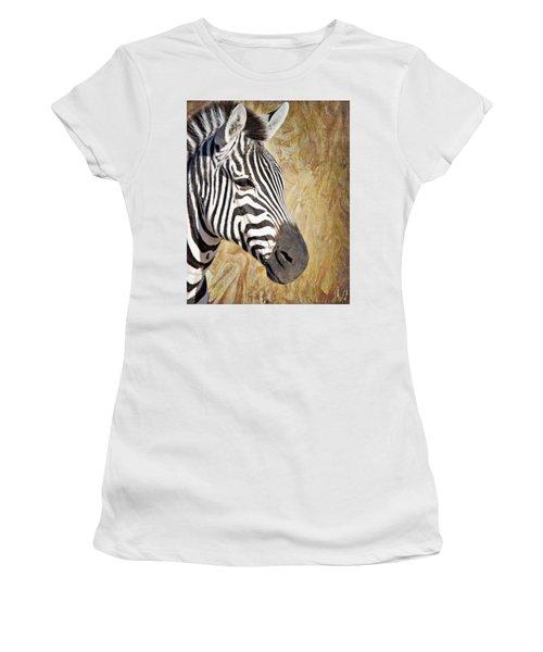 Grant's Zebra_a1 Women's T-Shirt (Athletic Fit)