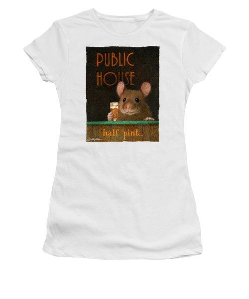 Half Pint... Women's T-Shirt (Junior Cut) by Will Bullas