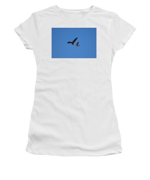 Hawk Vs Eagle Women's T-Shirt (Athletic Fit)