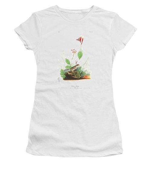 Henslow's Bunting  Women's T-Shirt (Junior Cut) by John James Audubon