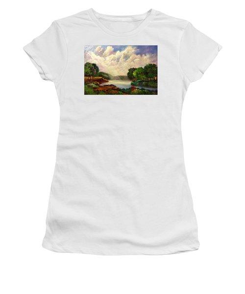 His Divine Creation Women's T-Shirt (Junior Cut) by Randy Burns