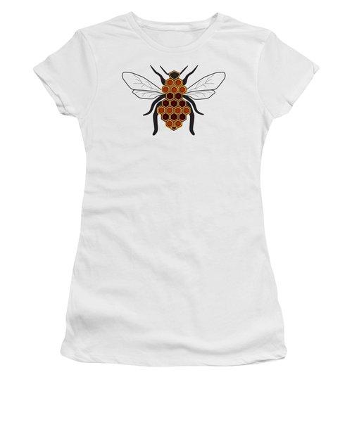 Honeycomb Bee Sans Border Women's T-Shirt