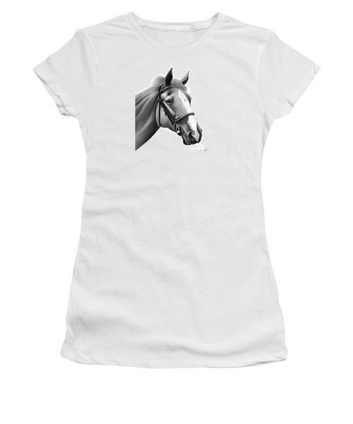 Women's T-Shirt (Junior Cut) featuring the painting Horse by Rand Herron