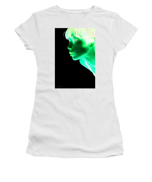 Inverted Realities - Green  Women's T-Shirt (Junior Cut) by Serge Averbukh