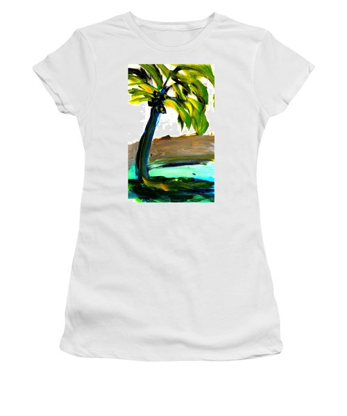 Island Time Women's T-Shirt (Junior Cut) by Fred Wilson