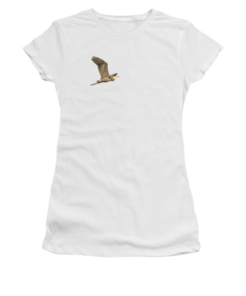 Women's T-Shirt (Junior Cut) featuring the photograph Isolated Great Blue Heron 2015-5 by Thomas Young
