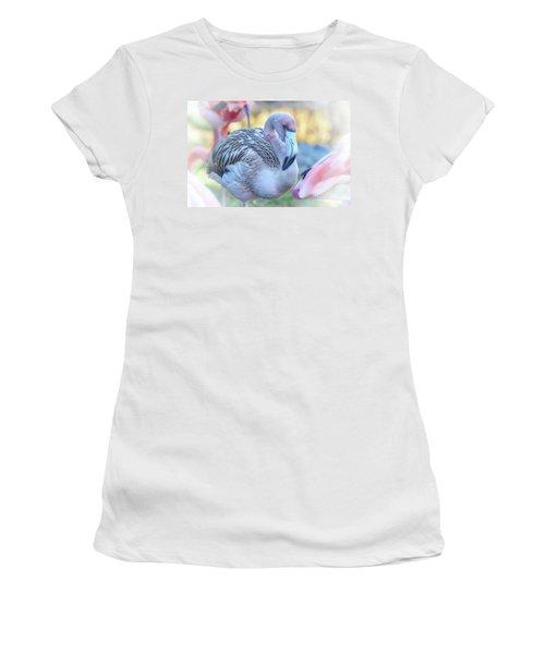 Juvenile Flamingo Women's T-Shirt (Athletic Fit)