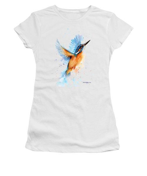 Kingfisher Women's T-Shirt (Junior Cut) by Sarah Stribbling