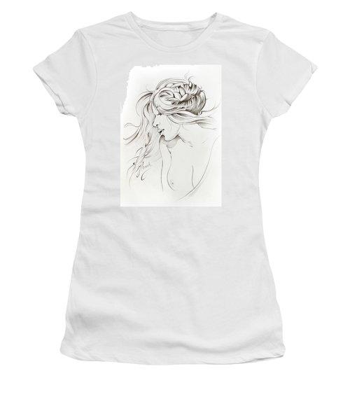 Kiss Of Wind Women's T-Shirt (Junior Cut) by Anna Ewa Miarczynska