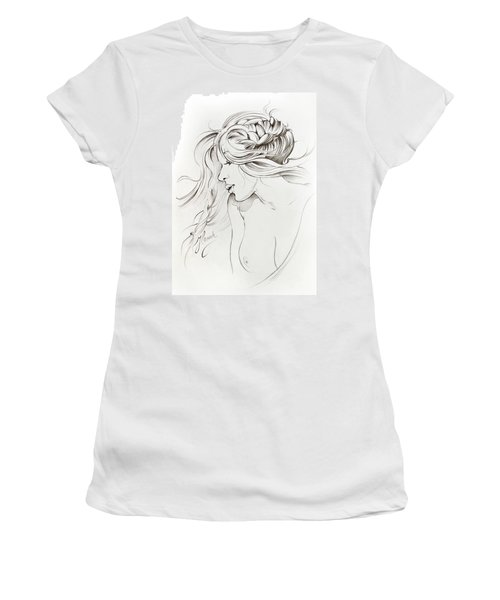 Kiss Of Wind Women's T-Shirt (Athletic Fit)