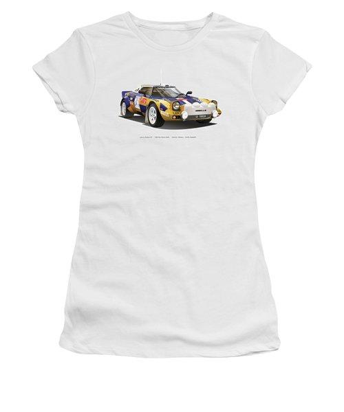 Lancia Stratos Hf Women's T-Shirt (Junior Cut) by Alain Jamar
