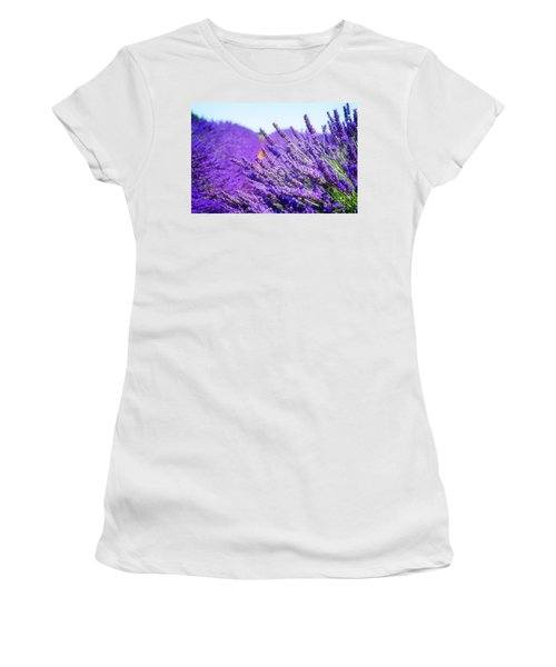Lavender Field Women's T-Shirt (Junior Cut) by Anastasy Yarmolovich