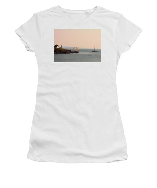 Leaving Camden Harbor Women's T-Shirt (Athletic Fit)