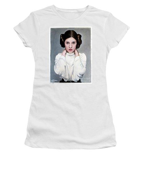 Leia Women's T-Shirt (Junior Cut) by Tom Carlton