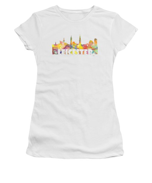 Leicester England Skyline Women's T-Shirt (Athletic Fit)