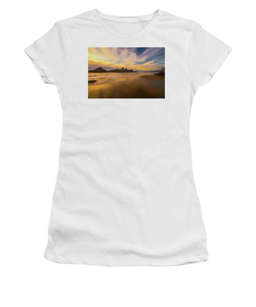 Lines In The Sand Women's T-Shirt (Athletic Fit)