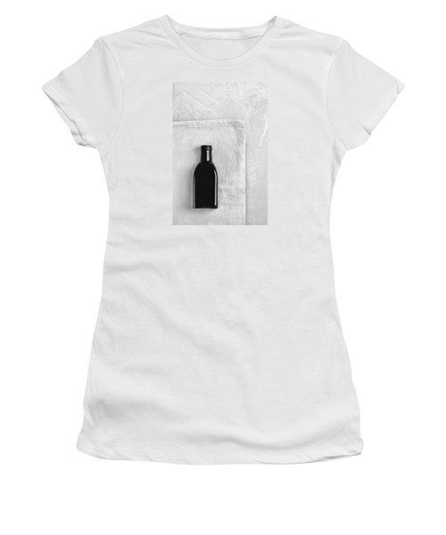 Women's T-Shirt (Junior Cut) featuring the photograph Little Black Bottle  by Andrey  Godyaykin