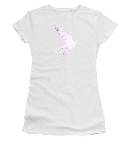 Magical Phoenix Bird Artistic Design Women's T-Shirt (Junior Cut) by Awen Fine Art Prints