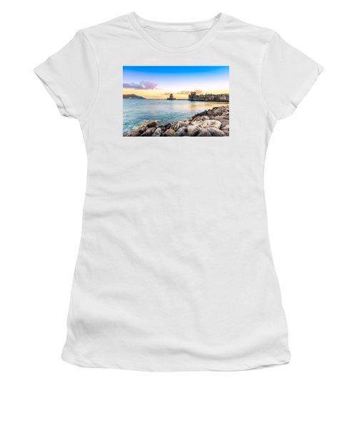 Methoni's Castle / Greece. Women's T-Shirt (Junior Cut) by Stavros Argyropoulos