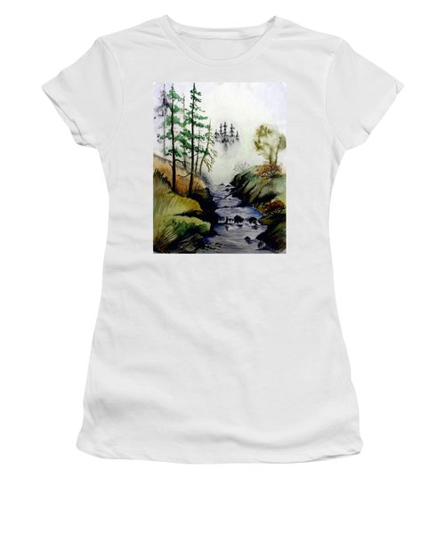 Misty Creek Women's T-Shirt (Junior Cut) by Jimmy Smith