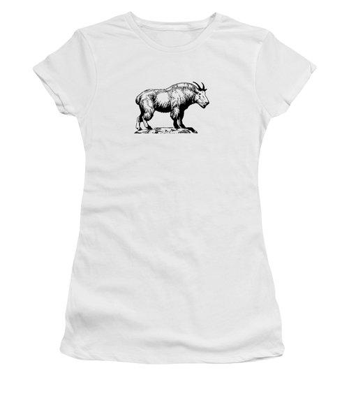 Mountain Goat Women's T-Shirt (Junior Cut) by Mordax Furittus