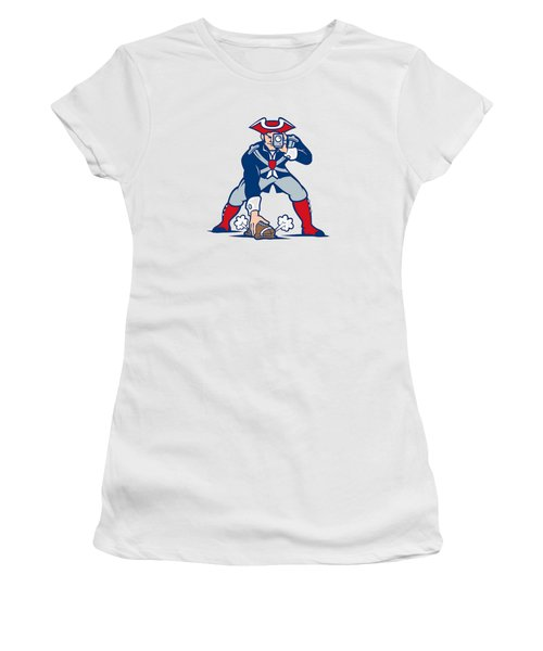 Women's T-Shirt (Junior Cut) featuring the photograph New England Patriots Parody by Joe Hamilton