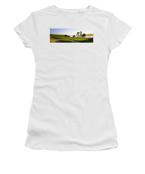 Pebble Beach Golf Course, Pebble Beach Women's T-Shirt (Athletic Fit)