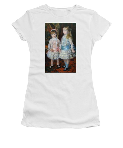 Pink And Blue Women's T-Shirt